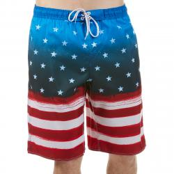 Burnside Men's Americana E-Board Shorts - Blue, M