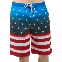 Burnside Men's Americana E-Board Shorts - Blue, L
