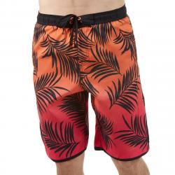 Burnside Men's Swim Volley Horizion Board Shorts - Red, XL