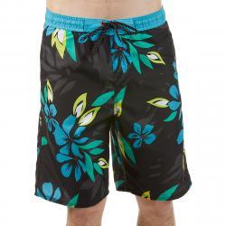 Burnside Men's Floral E-Board Shorts - Black, L