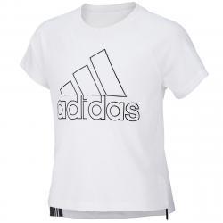 Adidas Girls' Winners Tee - White, S
