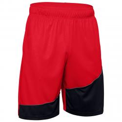 Under Armour Men's 10-Inch Baseline Basketball Shorts - Red, S
