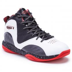 And1 Boys' Size 'm Up Basketball Shoes - White, 1