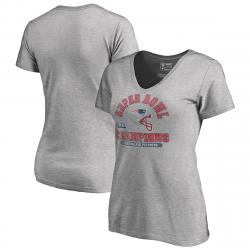 New England Patriots Women's Super Bowl Liii Champions Short-Sleeve Double Coverage Tee - Black, M