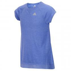 Adidas Girls' Melange Short-Sleeve Performance Top - Purple, 4