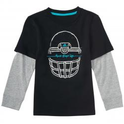 Adidas Little Boys' Helmet Long-Sleeve Tee - Black, 7X