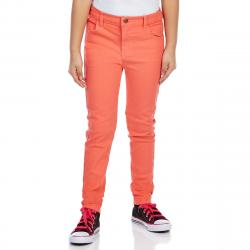 Minoti Girls' Slub Twill Skinny Pants - Orange, 3-4