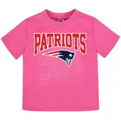 New England Patriots Toddler Girls' Pink Poly Short-Sleeve Tee - Red, 4T