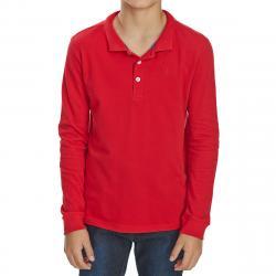Minoti Big Boys' Long-Sleeve Polo Shirt - Red, 10/11