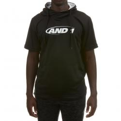And1 Men's Short Sleeve Fleece Hoodie - Black, XL