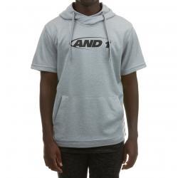 And1 Men's Short Sleeve Fleece Hoodie - Black, XXL