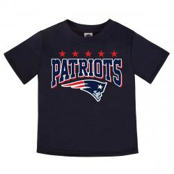 New England Patriots Toddler Boys' Gerber Short-Sleeve Tee - Blue, 4T