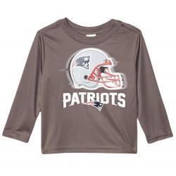 New England Patriots Toddler Boys' Gerber Long Sleeve Tee - Black, 4T