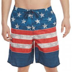 Burnside Guys' Americana E-Board Shorts - Blue, L