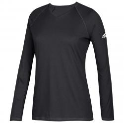 Adidas Women's Long-Sleeve Climate Tee - Black, S