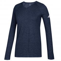 Adidas Women's Long-Sleeve Climate Tee - Blue, L