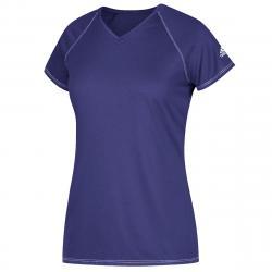 Adidas Women's Short-Sleeve Team Climalite Tee - Purple, XS