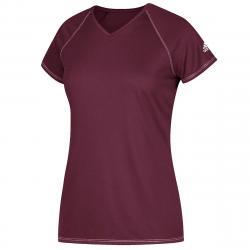 Adidas Women's Short-Sleeve Team Climalite Tee - Red, M