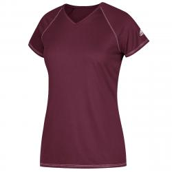 Adidas Women's Short-Sleeve Team Climalite Tee - Red, XS