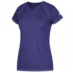 Adidas Women's Short-Sleeve Team Climalite Tee - Purple, XLT