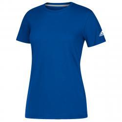 Adidas Women's Short-Sleeve Performance Crew Neck Tee - Blue, XL