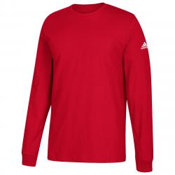 Adidas Men's Performance Long-Sleeve Tee - Red, 4XL