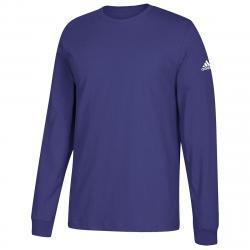 Adidas Men's Performance Long-Sleeve Tee - Purple, 3XL