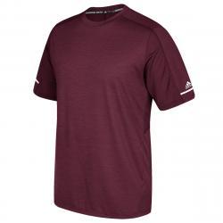 Adidas Men's Short-Sleeve Training Performance Tee - Red, L