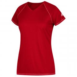 Adidas Women's Short-Sleeve Team Climalite Tee - Red, S
