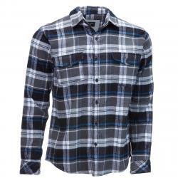 Burnside Men's Flannel Shirt - Black, S