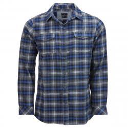 Burnside Men's Button-Down Flannel Shirt - Black, S