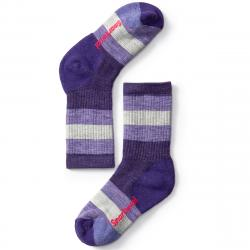 Smartwool Kids' Striped Hike Medium Crew Socks - Purple, M