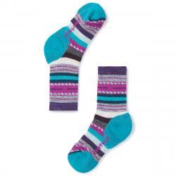 Smartwool Kids' Hike Medium Margarita Crew Socks - Purple, S
