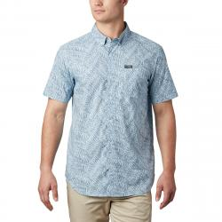 Columbia Men's Short-Sleeve Brentyn Trail Ii Shirt - Blue, L