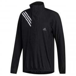 Adidas Men's Run It 3-Stripes Anorak Jacket - Black, L