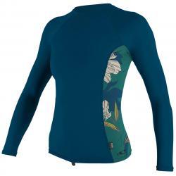 O'neill Women's Rashguard Long-Sleeve Shirt - Blue, S