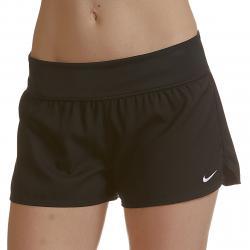 Nike Women's Solid Element Swim Boardshort - Black, L