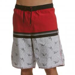 Burnside Men's Go Fish Swim Shorts - Black, XL