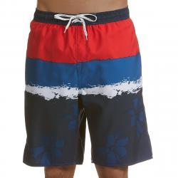 Burnside Men's Flower Power Swim Shorts - Blue, L