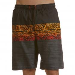 Burnside Men's Native Swim Shorts - Orange, L