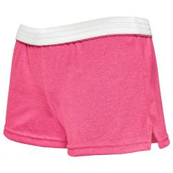 Soffe Girls' Authentic Shorts - Red, M