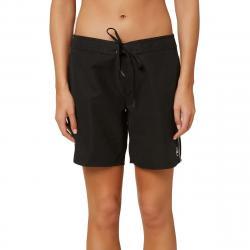 """O'neill Women's Saltwater Solids 7"""" Boardshort - Black, 9"""