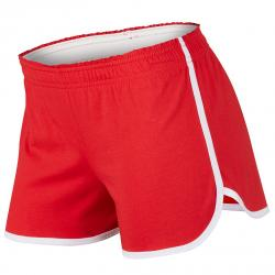 Soffe Girls' Dolphin Shortie Shorts - Red, M
