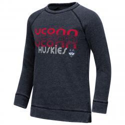Uconn Big Girls' Hot Hands Burnout Fleece Pullover - Blue, XL