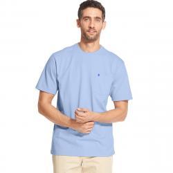 Izod Men's Saltwater Short-Sleeve Pocket Tee - Blue, M