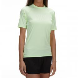 Nike Women's Solid Short-Sleeve Hydroguard - Green, S