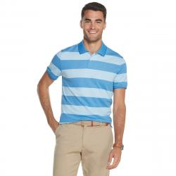 Izod Men's Advantage Performance Striped Polo Shirt - Blue, XL