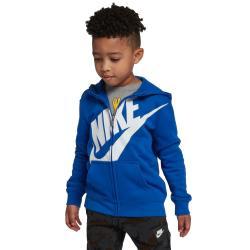 Nike Little Boys' Futura Fleece Full-Zip Hoodie - Blue, 6