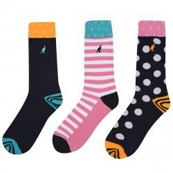 Kangol Women's Formal Socks, 3-Pack - Various Patterns, 6-10