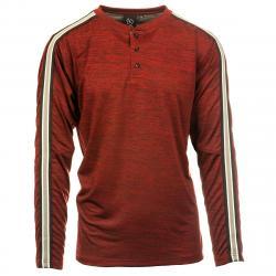 Burnside Men's Long Sleeve Henley - Red, 2XL